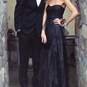 Nordstrom Black Sparkly Tapered Dress
